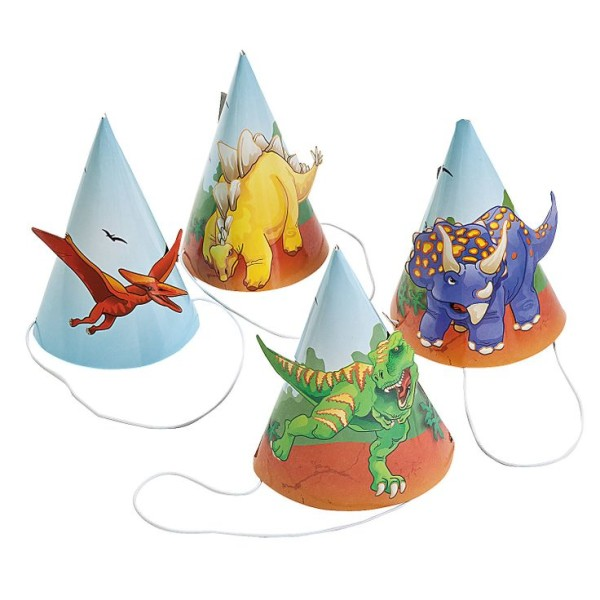 dinosaur party hats template