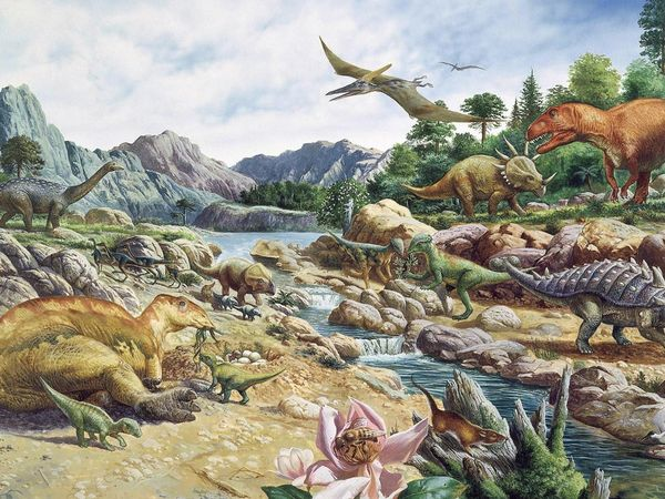 Dinosaurs in the Cretaceous Period