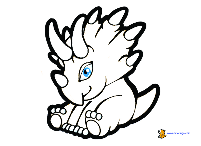 coloring pages dinosaurs triceratops baby - photo#8
