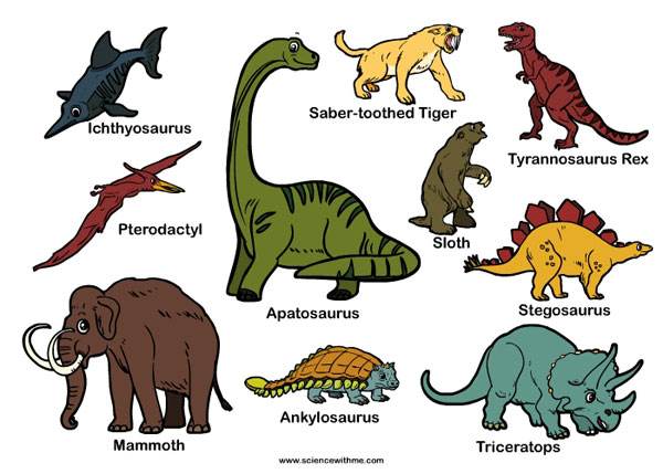 Dinosaurs Names And Pictures For Kids