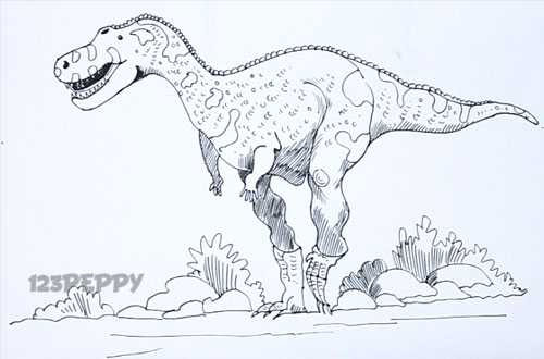 Abelisaurus Coloring Sheets