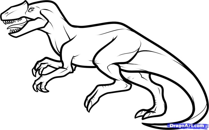 T-Rex free printable realistic dinosaur coloring pages