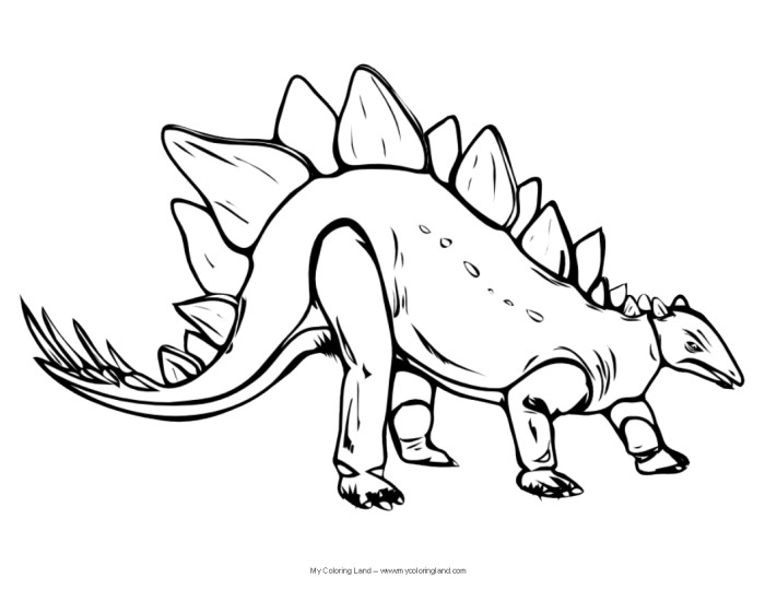 Stegosaurus free realistic dinosaur coloring pages