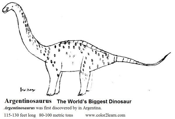 Argentinosaurus Coloring Pages