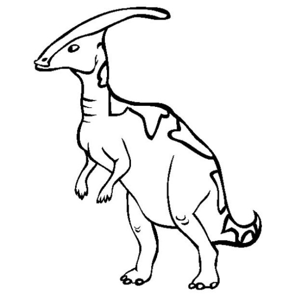 Parasaurolophus from Late Cretaceous Period in Dinosaur Coloring Page