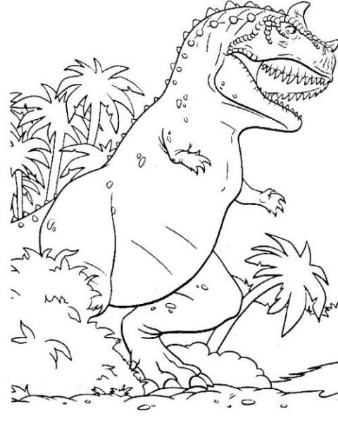 Dinosaur Meat Eater Coloring For Kids