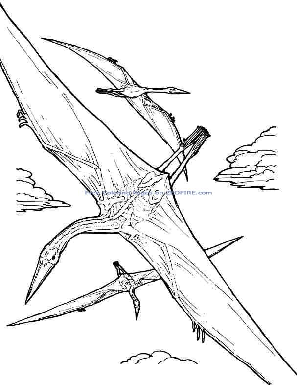 Free Coloring Pages Animal Dinosaurs Quetzalcoatlus