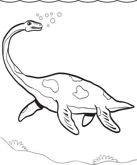 Plesiosaurus Coloring Pages