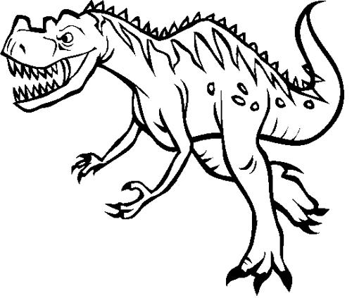 Ceratosaurus Coloring sheet