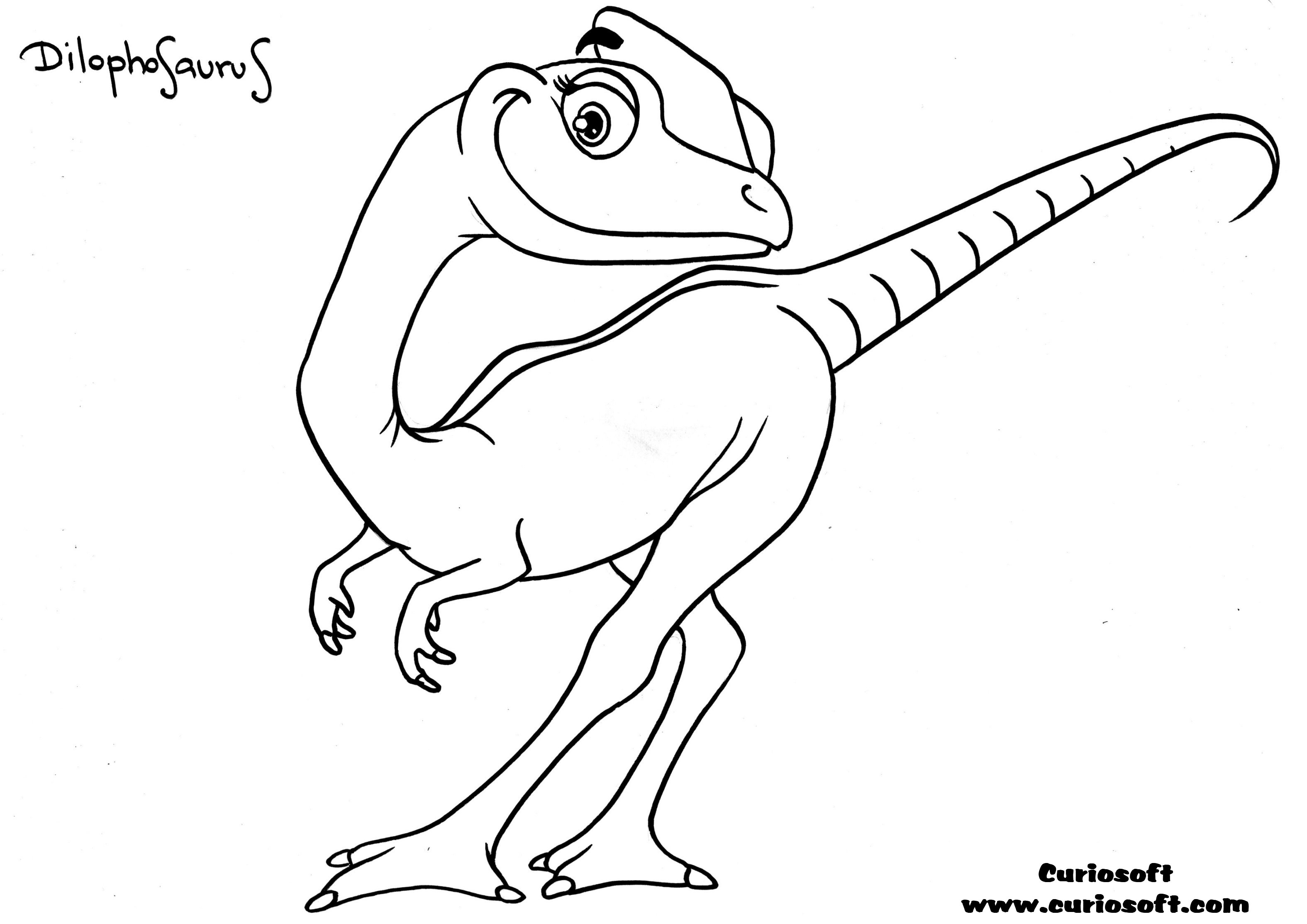 jurassic park coloring pages dilophosaurus - photo#12