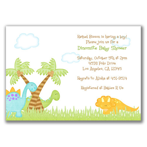 Do it yourself Dinosaur Invitation ideas