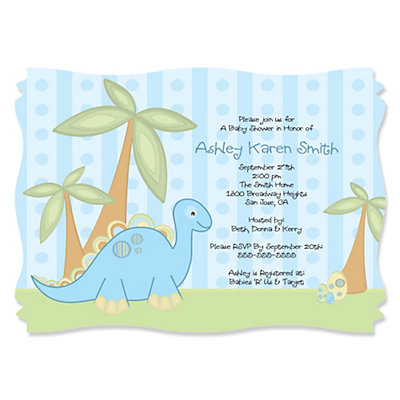 Do it yourself Dinosaur Invitations