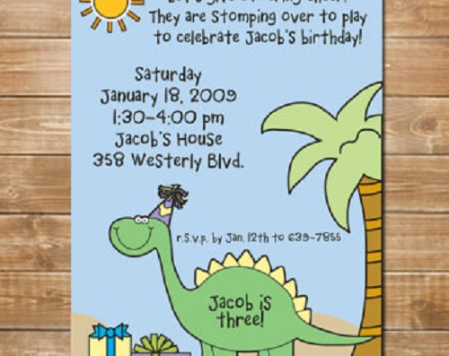 Do it yourself Dinosaur bhirtday Invitation