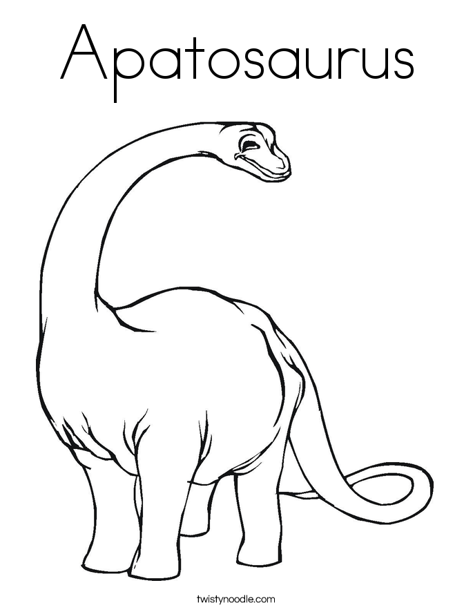 Printable Apatosaurus Coloring sheets