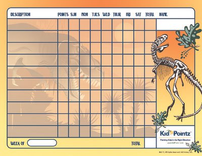 behavior charts dinosaur