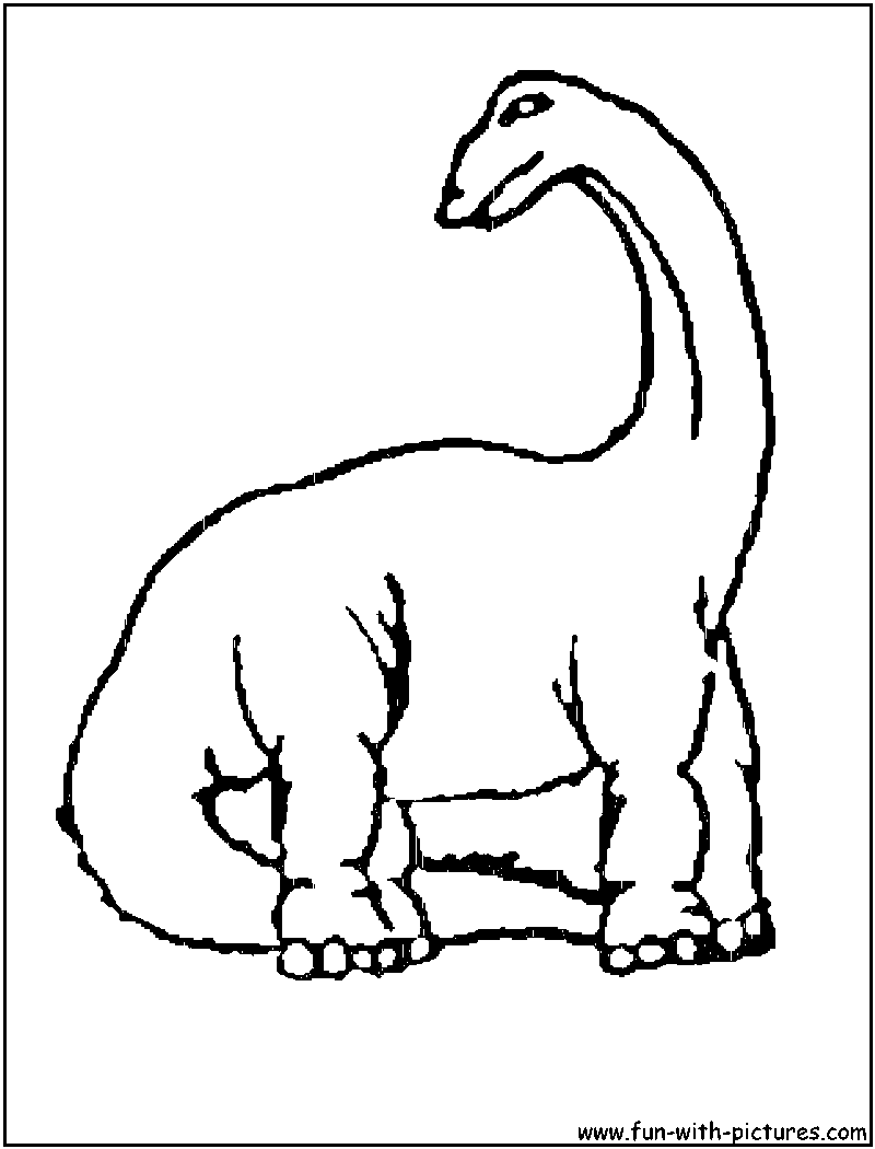 Brontosaurus Coloring Pages for kids