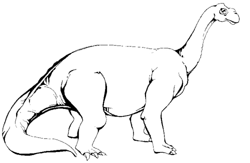 Camarasaurus dinosaur coloring pages for kid