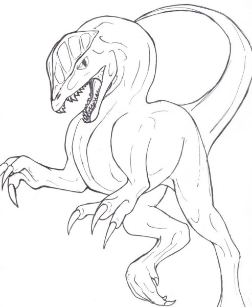 Dilophosaurus coloring page for kid