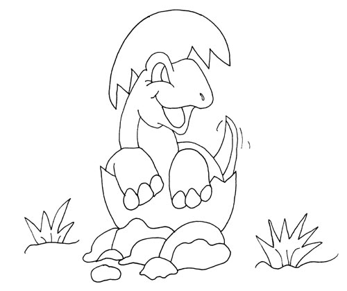 Baby Dinosaur coloring page for kids