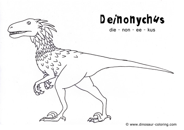 Meat-Eating Dinosaurs Coloring Pages