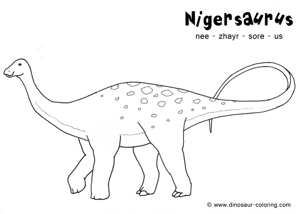 Nigersaurus Coloring page for kids