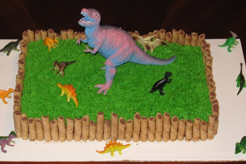 how to make a dinosaur cake bety crocker