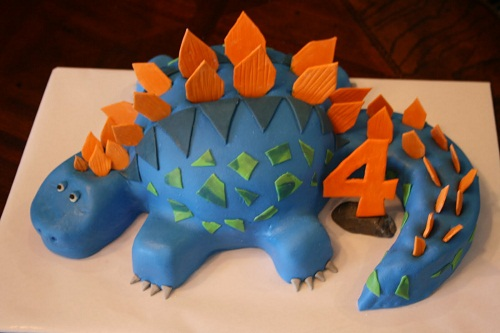 how to make a dinosaur cake topper