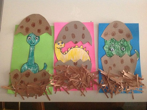 preschool crafts dinosaurs eggs