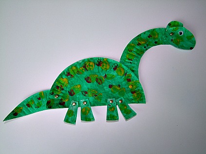 preschool crafts dinosaurs theme