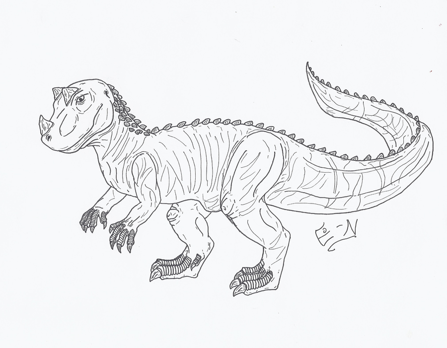 Ceratosaurus coloring page for kids