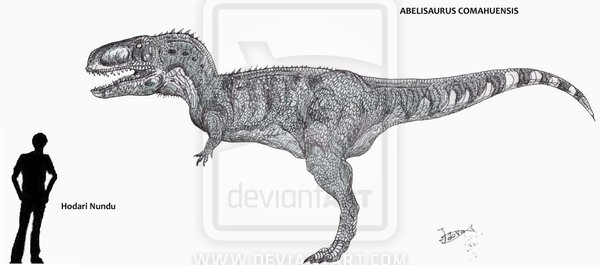 Abelisaurus Size Comparison