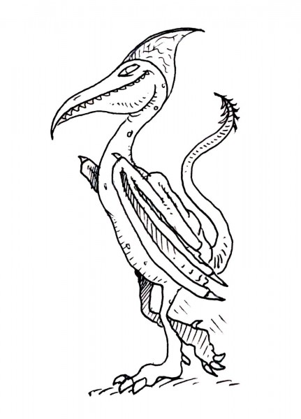 Pteranodon coloring pages sheet