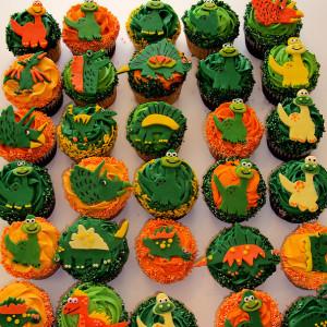 dinosaur cupcakes easy