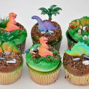dinosaur cupcakes cake
