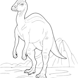 Parasaurolophus dinosaur Coloring Pages