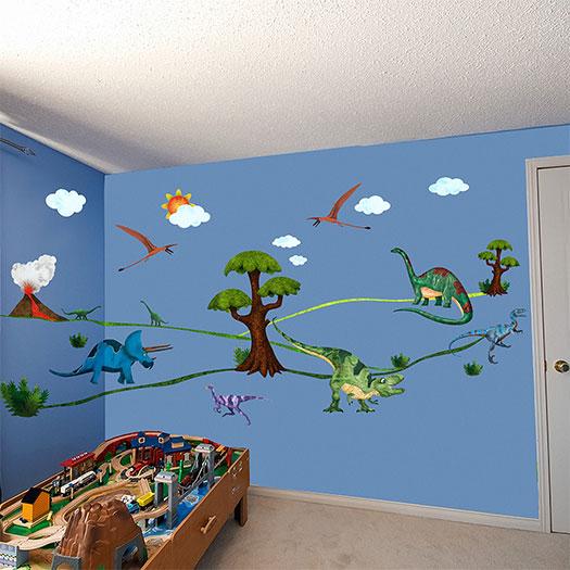 dinosaur wall murals