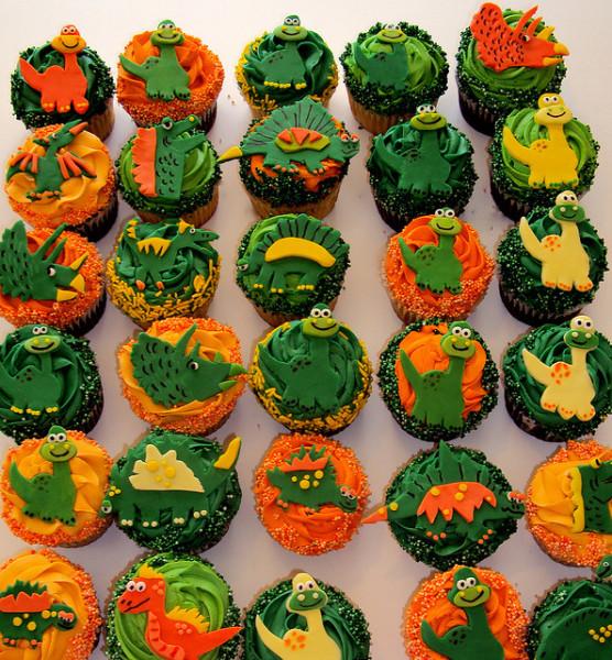 dinosaur cupcake cake template