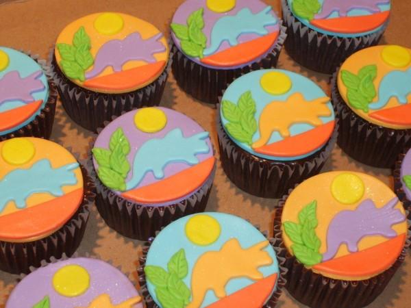 dinosaur cupcake cake ideas