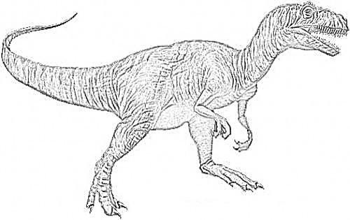 Allosaurus Dinosaur Coloring Page