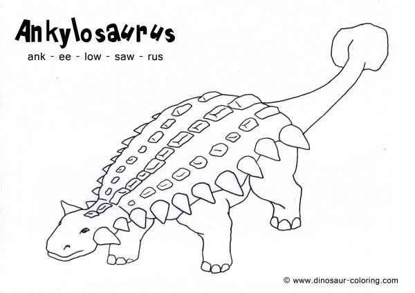 ankylosaurus dinosaur coloring pages