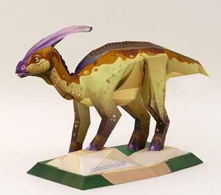 Dinosaur Papercraft – Parasaurolophus