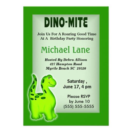 dinosaur birthday invitations ideas