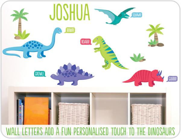 dinosaur wall stickers bedroom