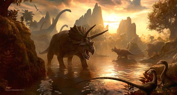 cretaceous period dinosaur diorama