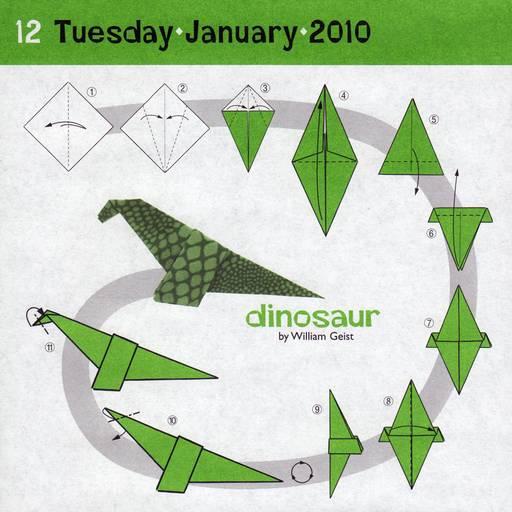 origami dinosaur printable diagrams