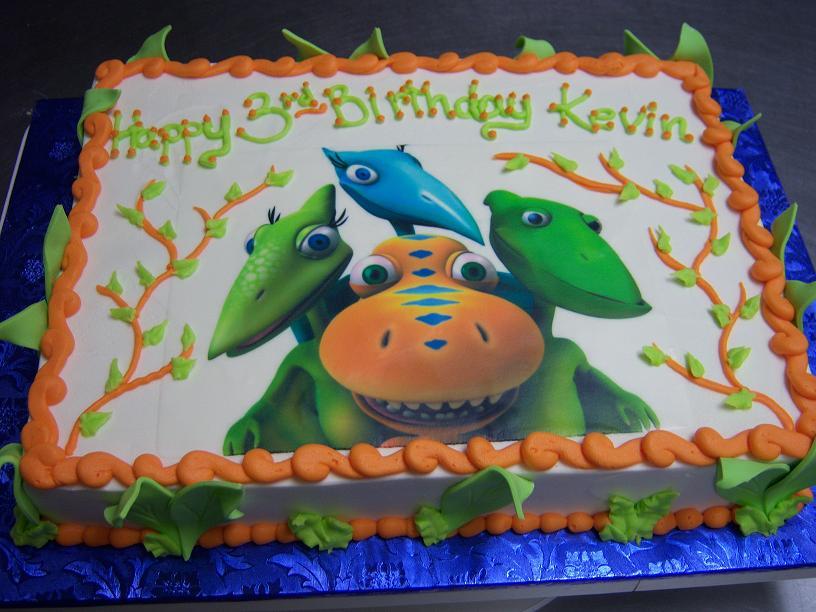 dinosaur train cake topper