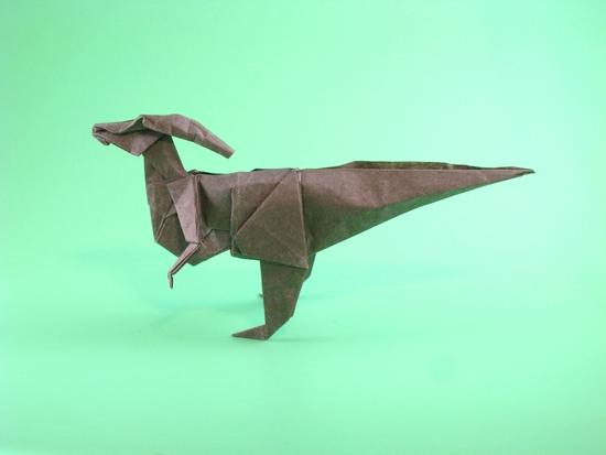 Origami Dinosaur Parasaurolophus
