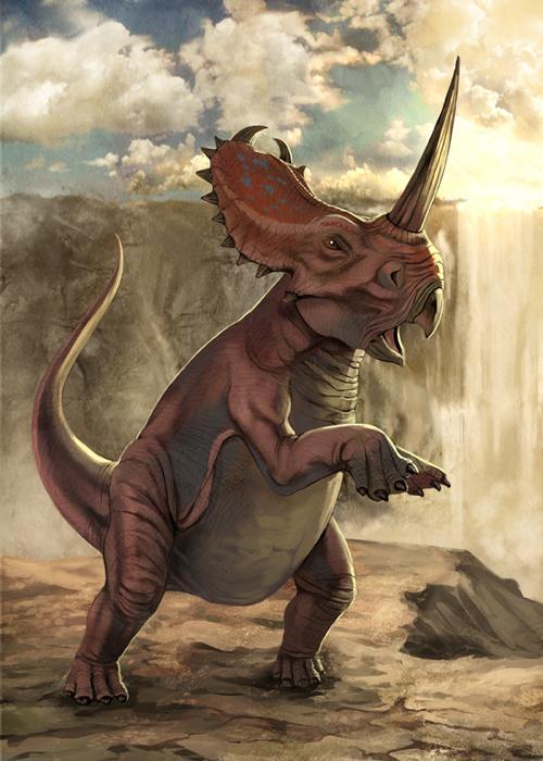 Centrosaurus on Cretaceous Period