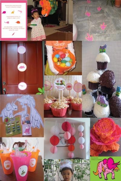 Girl Dinosaur Birthday Party Theme