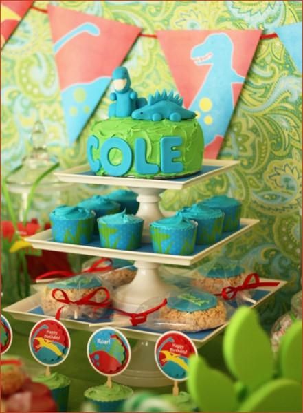 Dinosaur Cake Birthday for Girl